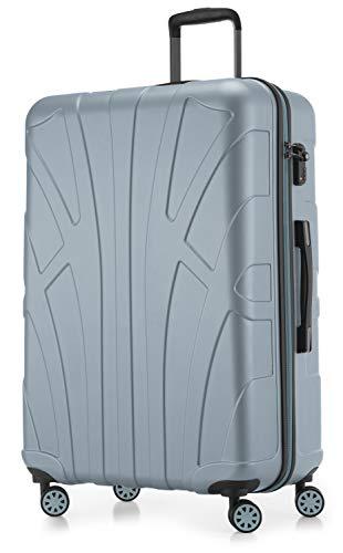 Suitline - Maleta rígida, Equipaje de Viaje, TSA, 76 cm, Aprox. 96 litros, 100% ABS Mate, Piscina Azul
