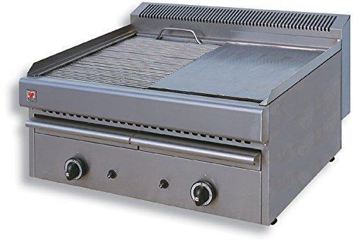 North Pro T25Gas Grill/Grillpfanne 15,9KW mit Wasser Schublade–LxBxH: 765x 630x 430(Made in Griechenland)