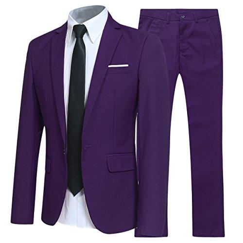Allthemen Anzug Herren Anzüge Slim Fit 2 Teilig Business Herrenanzug Sakko Hose