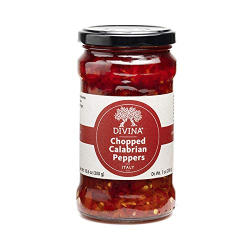 Divina Chopped Calabrian Peppers, 10.6 Oz.