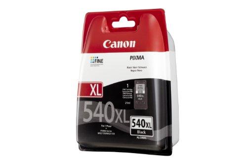 Canon PG-540XL Cartucho de tinta original Negro XL para Impresora de Inyeccion de tinta Pixma, Negro