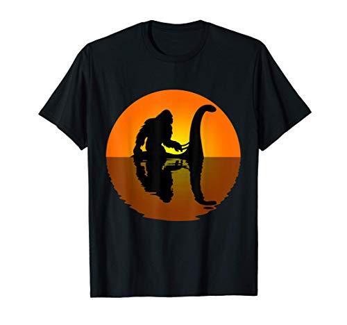 Bigfoot Riding on Nessie Loch Ness Monster Sasquatch Gift T-Shirt