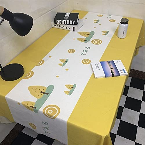 sans_marque Paño de mesa, cubierta de mesa de comedor, fregar mantel rectangular, aceite y agua y mantel a prueba de moho, utilizado para decoración de mesa de cocina 60* 150 cm