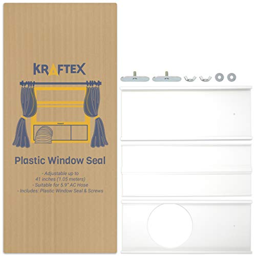 Portable Air Conditioner Window Kit | AC Window Kit Seal for AC Hose with 5.9