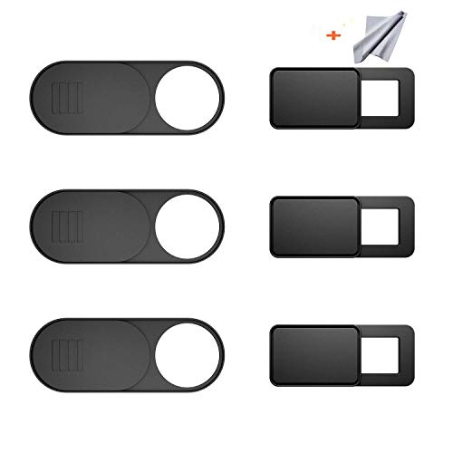 iWalker Webcam Abdeckung 6er-Pack,Webcam Cover Frontkamera Kamera Abdeckung Ultra dünn für iMac, MacBook Pro, Mac, Computer, Smartphone, Slider oder Sticker Kamera Blocker