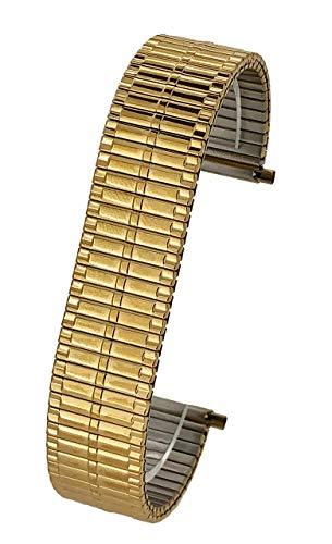 Correa de Reloj de Acero Inoxidable Extensible en Tono Dorado (17 mm,...