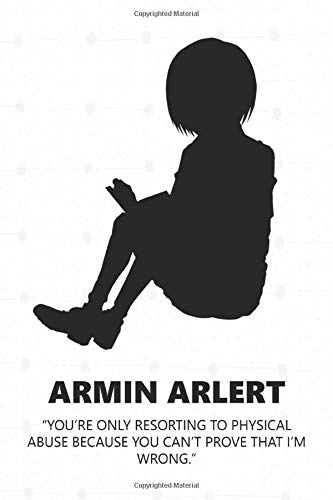 Armin Arlert: Anime Lover Notebook, 112 Lined Pages, 6 x 9, Gift, School&Office, Attack On Titan, Armin