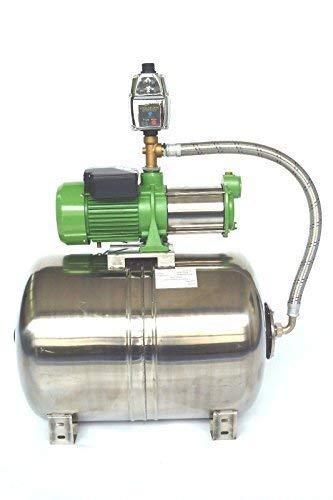 Huiswaterpomp 100 liter met roestvrij stalen ketel INOX + centrifugaalpomp HMC170-5SH 1650 watt, druk 5,5 bar INOX 10200/h - 170 l/min. + Pompbesturing EPC-4 met droogloopbeveiliging.