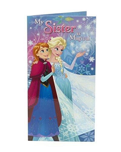 Carlton 797113–0Disney Frozen Anna und Elsa Schwester Geburtstagskarte