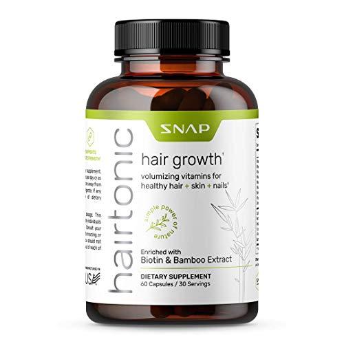 Women Hair Vitamins for Thicker Hair Growth, Hair Strengthener, Hair Nails And Skin Vitamins For Women, Faster Hair Growth, Prevent Hair Loss - Biotin, Collagen, Bamboo & More (60 Capsules)