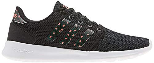 adidas Qt Racer, Zapatillas para Correr para Mujer, Core Black/Core Black/Signal Coral, 38 EU