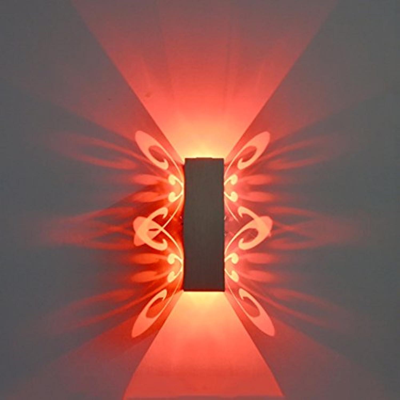 Wandleuchten Aluminium Led Licht Fixture Up Und Down Led Wandleuchte 2W Batteryfly Modern Fashion Wandleuchte Indoor (Farbe   Rot, watt   2W)