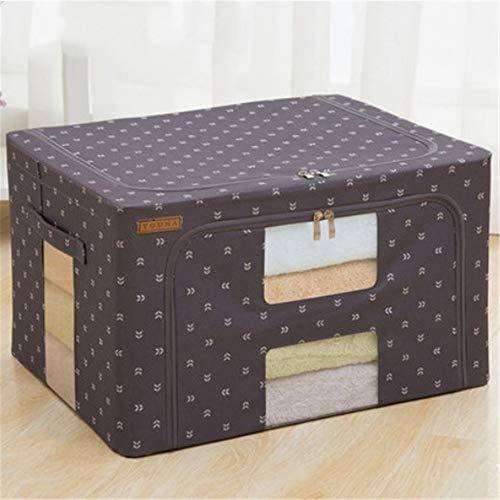 ETRZ Kleideraufbewahrungsbox Falttuch Aufbewahrungsbox Vier Fenster 2 Stück (dunkelgrauer Pfeil 40 * 25 * 20cm)