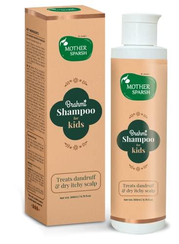 Mother Sparsh Brahmi Anti-Dandruff Hair Shampoo For Kids To Treat Dandruff & Dry Itchy Scalp- 200ml