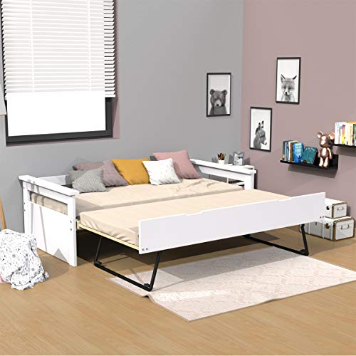 Sofá cama nido 90x190 con 1 cajón cama y 2 somieres Gael White