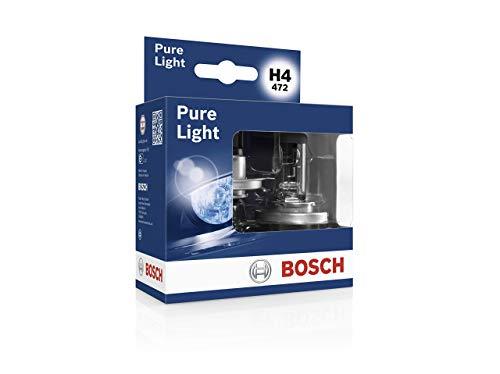 Bosch Headlight Bulbs Pure Light H4 12V 60/55W P43t (Bulb x2)