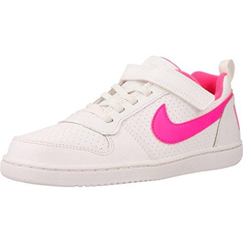 Nike Court Borough Low (PSV), Zapatillas de Baloncesto Niñas, Blanco (White/Pink Blast 100), 28.5 EU