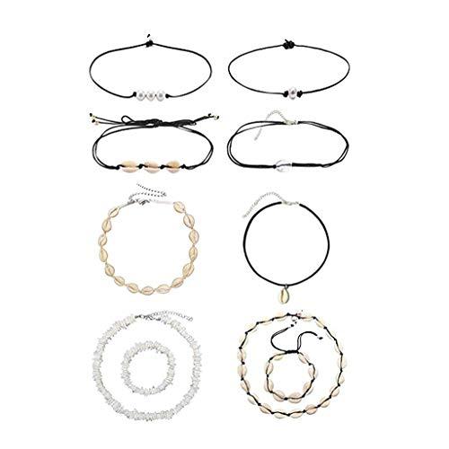 Jewelry Personality Collar corto de clavcula hecho a mano, estilo hawaiano, accesorios de estilo hawaiano (10 unidades)