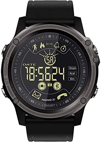 XYJ 1.25 Pulgadas Sports Sports Smart Watch Luminoso Impermeable Bluetooth Pedómetro de Bluetooth Mensaje Reloj Digital Reloj Digital Compatible con teléfonos Android y iOS-Negro (Color : Black)