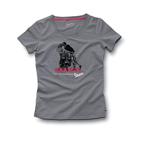 Original Vespa–Camiseta de mujer Vintage Print gris gris extra-small