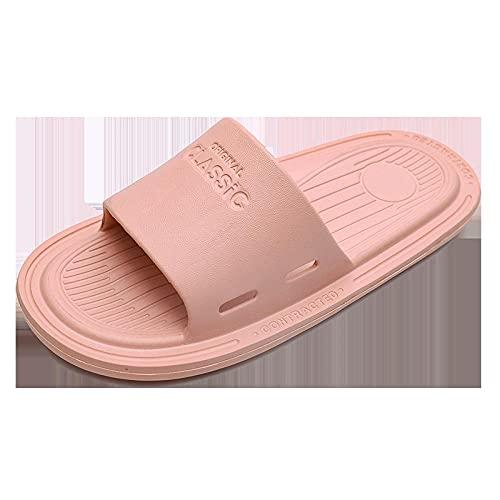 JFHZC Zapatos de Playa,Zapatillas de casa Antideslizantes Eva para Hombre, Zapatillas de baño Desodorante con Orificios de Drenaje-Pink_37-38