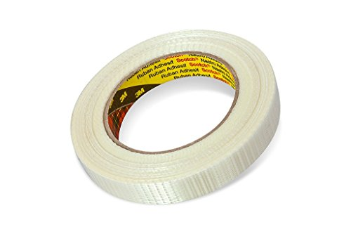 3M Tartan Filament-Klebeband Leistungsstark 8959 , 19 mm x 50 m, Transparent (1-er Pack)