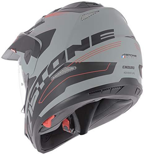 Astone Helmets tourer-advbrl Kopfhörer Tourer Adventure, Grau/Schwarz, M - 8