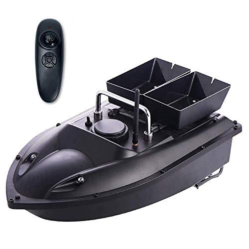 1,5 Kg De Carga Grande Pesca Nido Barco De Juguete RC Barco De Pesca Buscador De Los Pescados Remoto De Control De Cebo Vivo, A 500 Metros De Almacén Inteligente Doble,Negro