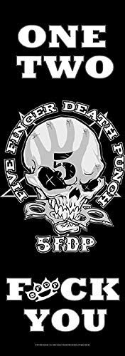 Five Finger Death Punch One Two Fuck You Unisex Flagge schwarz/weiß