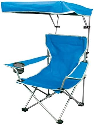 Quik Shade Folding Canopy Shade Camp Chair for Kids with Carry Bag Blue product image