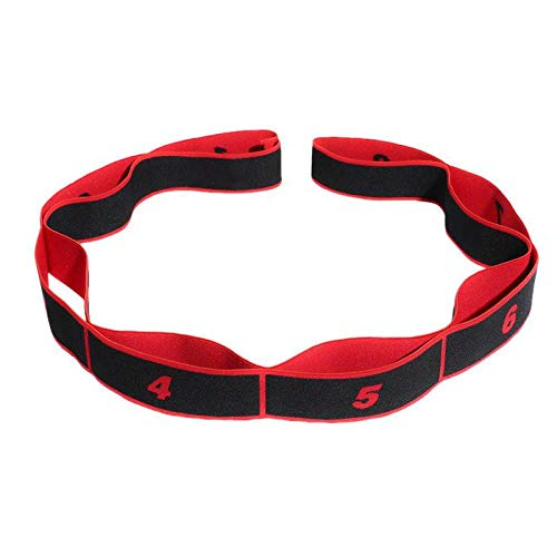 Yoga Pull Belt Cinturilla poliéster Latex elástico Dance Stretch Belt Ring Gym Pilates Yoga Fitness Ejercicio Banda elástica de Resistencia