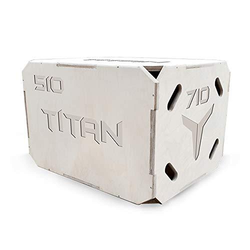 Plyo Box - Plataforma de madera para crossfit, entrenamiento de salto, entrenamiento de salto, entrenamiento de fitness en el hogar, equipo de entrenamiento para fitness,3 en 1, 50/60/70cm