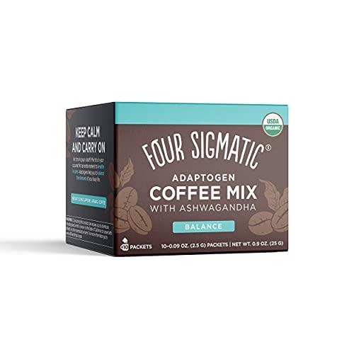 Four Sigmatic Adaptogen Organic Medium Roast Instant Coffee with Ashwagandha,...