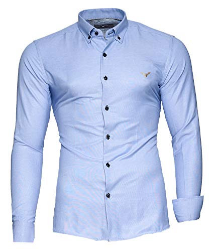 Kayhan Hombre Camisa, Oxford Lightblue XL