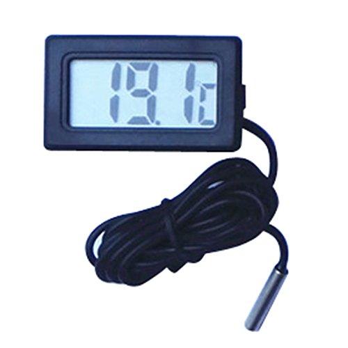 HARRYSTORE Mini Thermometer Digital LCD Display Temperaturmesser mit 1M Kabel