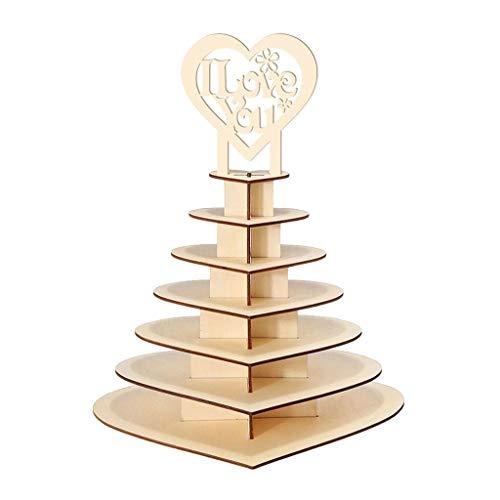 Decoración para fiestas La boda del soporte de exhibición de la pieza central de caramelo decoración de madera de boda de chocolate en forma de corazón del árbol del corazón Ferrero Rocher soporte de