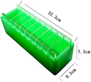 Silicone Loaf Soap Mold with Crosswise Transparent Acrylic Dividers for Handmade Swirl Mould Tool