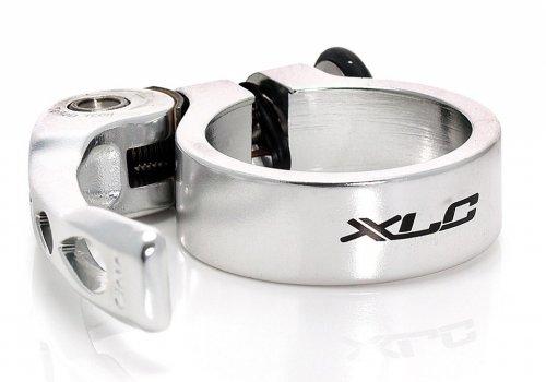 Xlc-Collier de Selle Serrage Rapide 34.9mm Argent-Colliers de Selle