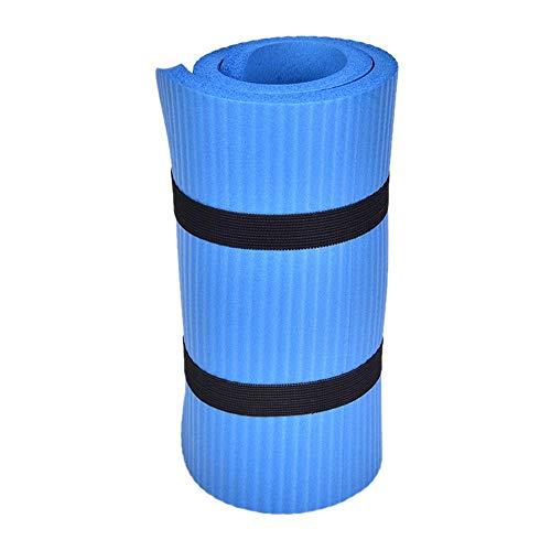 Gimnasio Soft Pilates Mat antideslizante Yoga Rodillera Cojín Codo Sport Mat Almohadillas plegables Interior Body Building 60x25x1.5cm-azul