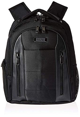 "Kenneth Cole Reaction Traditional Backpacks, Black, 17"" Laptop"