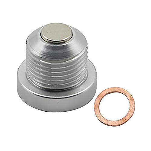 Motoparty Magnetic Engine Oil Drain Plug For Porsche 911 986 996 997 Boxster Cayman Cayenne,Billet Aluminum 18x1.5MM,Silver