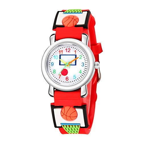 KingbeefLIU Reloj multicolor de baloncesto patrón lindo niños deportes niñas regalo ajustable...