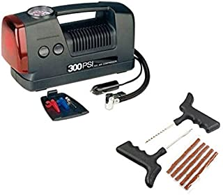 Coido Combo of 3301 12-Volts Compressor and Tubeless Tyre Puncture Kit