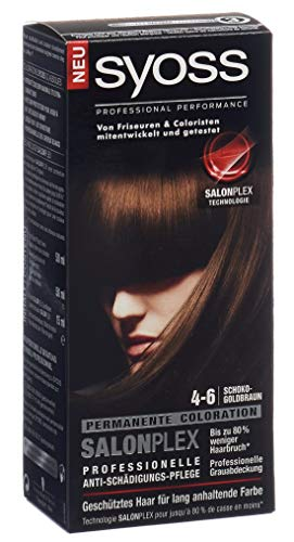 Syoss 4-6 Schoko Goldbraun Haarfarbe, 3er Pack (3 x 115 ml)