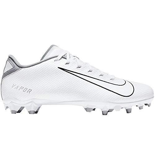 Nike Men's Vapor Edge Team Football Cleats nkCZ2606 100 (Numeric_10_Point_5) White/Wolf Grey