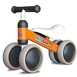 YGJT Bicicleta sin Pedales para Bebe de 1 Año (10-18 Meses), Correpasillos Juguetes Bebes para ejercita Las Habilidades de coordinación de su bebé, Excelente Regalo para Bebe de 1 Año (Naranja)