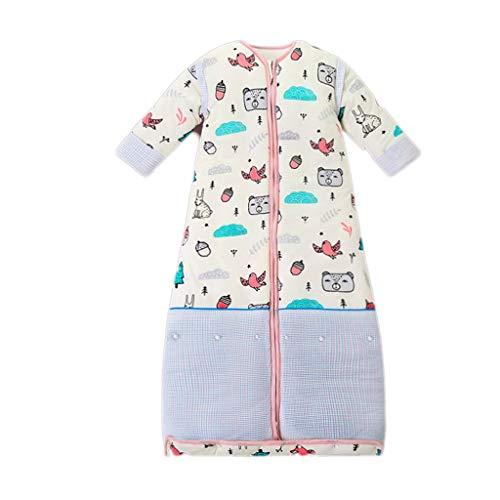 THBEIBEI Slaapzak Baby Slaapzak Verstelbare lengte Katoen Swaddle Verwijderbare Mouw Pasgeboren Baby Jongen Meisje Gift Deken Quilt Of wieg Wrap voor 2-12° Roze