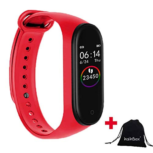 BoBoLing Red Smart Watch - Fitness Tracker with Heart Rate Monitor - Waterproof Smart Bracelet - Pedometer Smart Wristbands Bracelet for Women Men Kids Best QualityShop