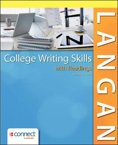 Compare Textbook Prices for College Writing Skills with Readings 9 Edition ISBN 9780078036279 by Langan, John