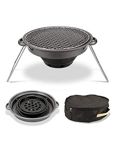 41Z9rp6mU0L. SL500  - Außen Flat Top Gasgrill Set Tragbare und Non-Stick Barbecue-Ofen Backblech for den Außeneinsatz New Grill Zubehör Rückfett (Color : Black)